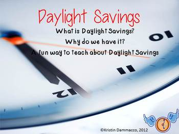 A Don't Miss Daylight Savings Fun Activities Pack for Writing & Math