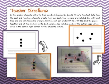 A Dot Can Be...{a student created book based on Ten Black Dots by Donald Crews}