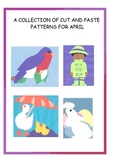 A Downloadable Collection of Cut and Paste Patterns for April Bulletin Boards