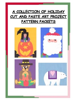 A Downloadable Collection of Cut and Paste Patterns for Holiday Bulletin Boards