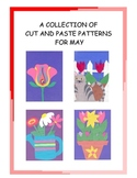 A Downloadable Collection of Cut and Paste Patterns for May Bulletin Boards