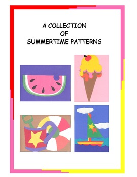 A Downloadable Collection of Cut and Paste Patterns for Summer Bulletin Boards
