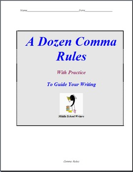 A Dozen Comma Rules To Guide Your Writing