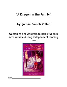A Dragon in the Family Chapter Book Questions and Answers