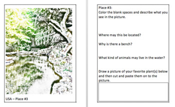 A Drawing and Discovery of Places Mini Book for Kids
