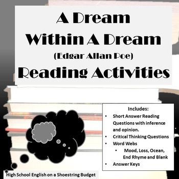 A Dream Within a Dream Reading Activities (E.A. Poe)