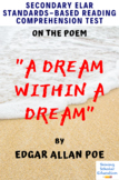 A Dream Within a Dream by Edgar A. Poe MC Reading Analysis & Comprehension Test