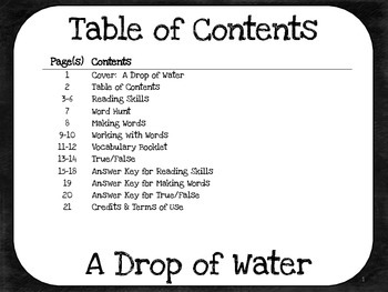 A Drop of Water - 5th Grade Harcourt Storytown Lesson 14