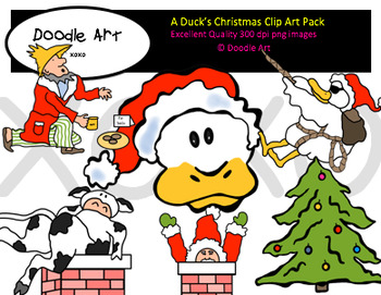 A Duck's Christmas Clipart Pack