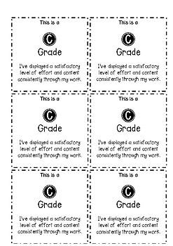 A-E Grade Cards