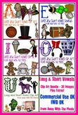 A, E, I, O, U - Long and Short Vowel Clip Art BUNDLE