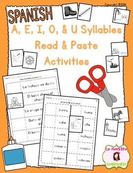 Read and Paste: Decoding U Syllables (Spanish)