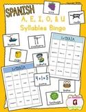 Bingo: Reading U Syllable Words (Spanish)