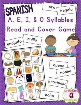 Read and Cover Game: Decoding O Syllables (Spanish)