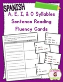 Sentence Fluency Cards: Reading O Syllables (Spanish)