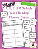 Word Fluency Cards: Reading O Syllables (Spanish)