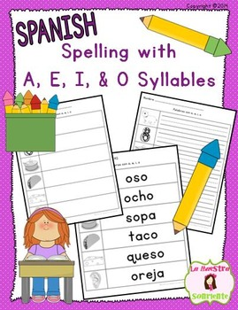 Spelling: Writing O Syllables (Spanish)