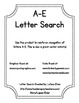A-E Letter Search-Center Activity