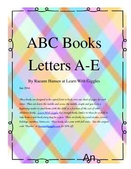 A-E Printable Books