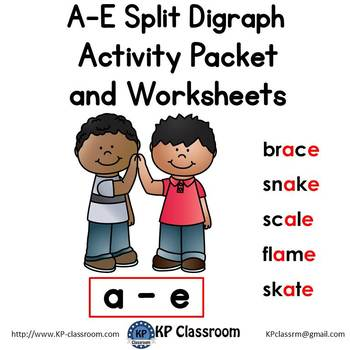 A-E Split Digraph Activity Packet and Worksheets