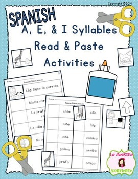 Read and Paste: Decoding I Syllables (Spanish)