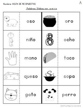 Read and Paste: Decoding O Syllables (Spanish)