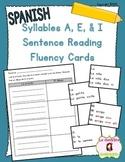 Sentence Fluency Cards: Reading I Syllables (Spanish)