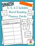 Word Fluency Cards: Reading I Syllables (Spanish)