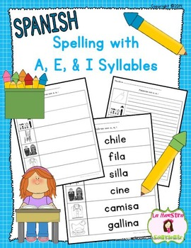 Spelling: Writing I Syllables (Spanish)