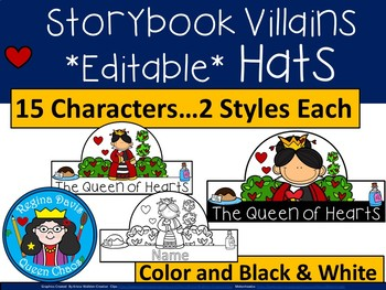 A+ EDITABLE Storybook Villains Hats