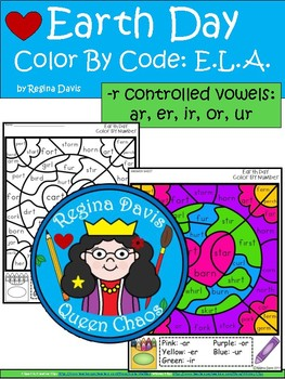 A+ Earth Day: Color By Code E.L.A.