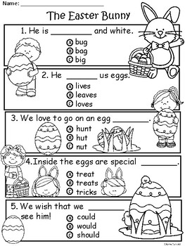 A+ Easter Bunny Comprehension: Differentiated Instruction For Guided Reading