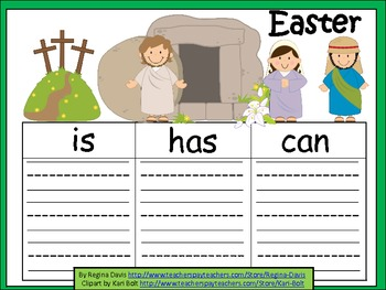 A+  Easter (Religious)... Three Graphic Organizers