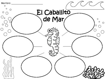 A+ El Caballito de Mar...Three Spanish Graphic Organizers