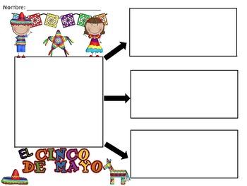 A+ El Cinco de Mayo...Three Spanish Graphic Organizers