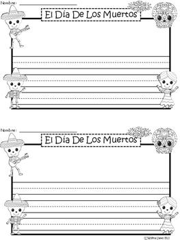 A+ El Día De Los Muertos (Day Of The Dead)Spanish Differentiated Writing Paper