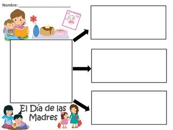 A+ El Dia de la Madre o El Dia de las Madres...Three Spanish Graphic Organizers