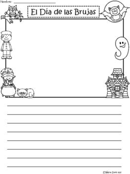 A+ El Día de las Brujas (Halloween) Spanish Differentiated Writing Paper