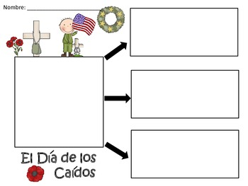 A+ El Dia de los Caidos...Three Spanish Graphic Organizers