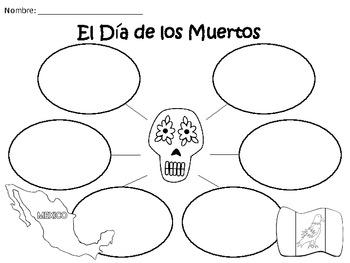 A+ El Dia de los Muertos...Spanish Graphic Organizers