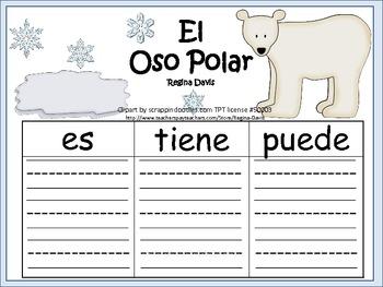 A+ El Oso Polar...Three Spanish Graphic Organizers
