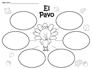 A+ El Pavo...Spanish Graphic Organizers