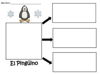 A+ El Pinguino...Three Spanish Graphic Organizers
