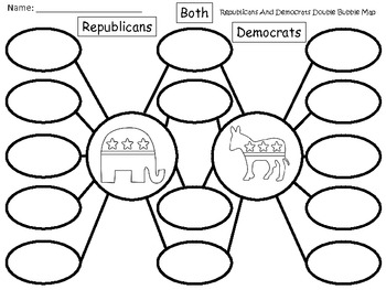 A+ Election Day: Republicans And Democrats Double Bubble Maps
