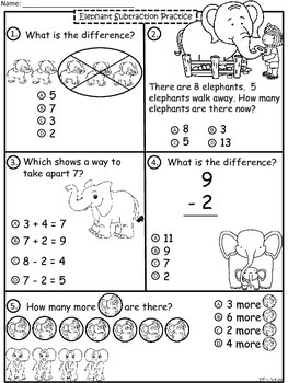A+  Elephant  Math: Subtraction