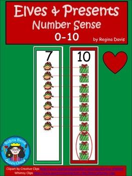 A+ Elves & Presents...Number Sense 0-10