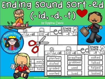 A+ Ending Sound Sort: -ed (id, d, t)
