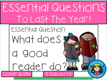 A+ Essential Questions To Last The Year!