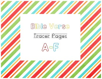 A-F Bible Verse Tracer Pages
