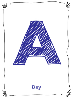A-F Day Schedule Letters